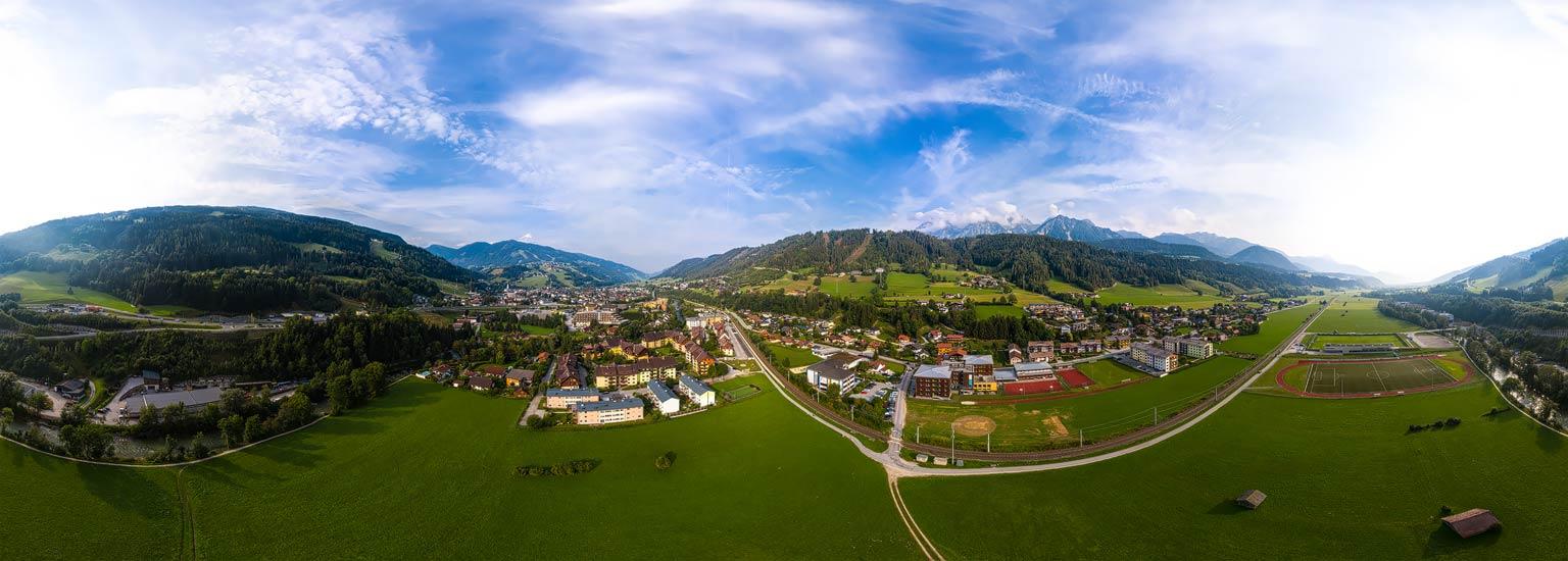 Schladming im Ennstal, Luftpanorama, Lothar Scherer, Fotograf Schladming