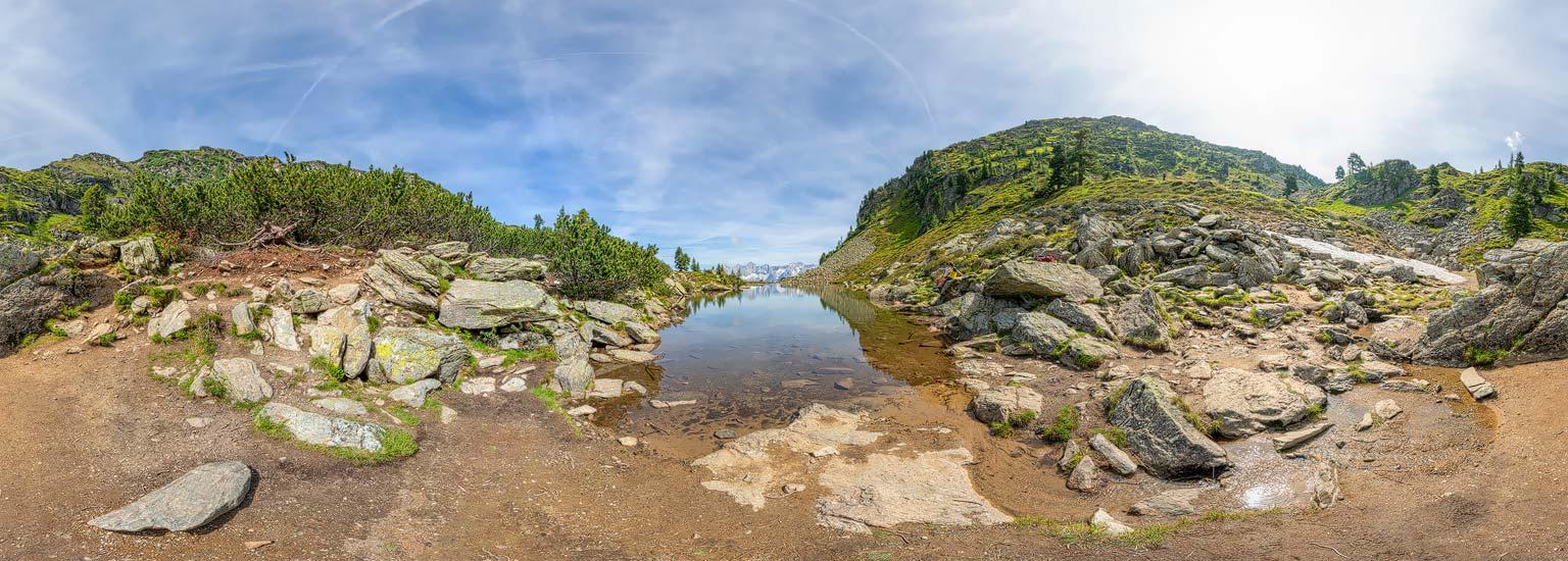 Spiegelsee, Reiteralm, Panoramafotografie, Luftpanorama, Lothar Scherer, Fotograf Schladming