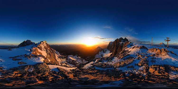 Dachstein, 360 Grad Panoramen, Fotografie